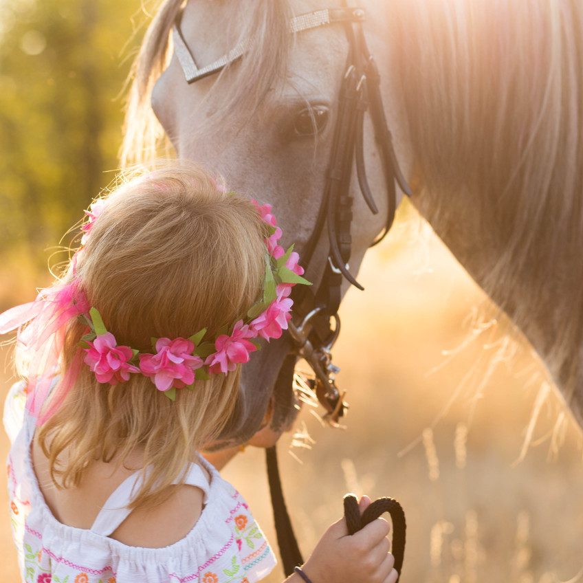 Unicorn and princess Portrait Session in Olympia, Washington. Photos by A Bit' O Whimsy Photography