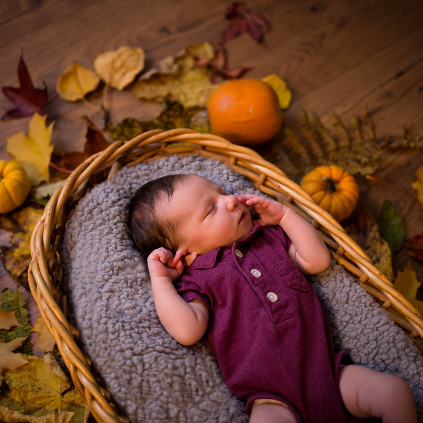 Fall Newborn Photography Session