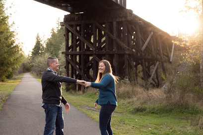 Couples photo session in Rainier, WA by A Bit O' Whimsy Photography