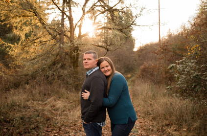 Fall couples photos in Rainier, WA by A Bit O' Whimsy Photography