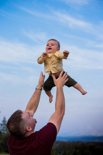 Flying baby boy