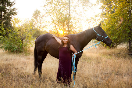 Equine Portrait Session in Olympia, Washington. Photos by A Bit O' Whimsy Photography