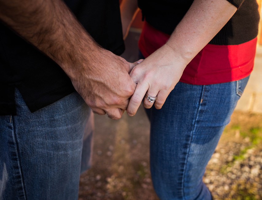 Engagement photos by A Bit O' Whimsy Photography