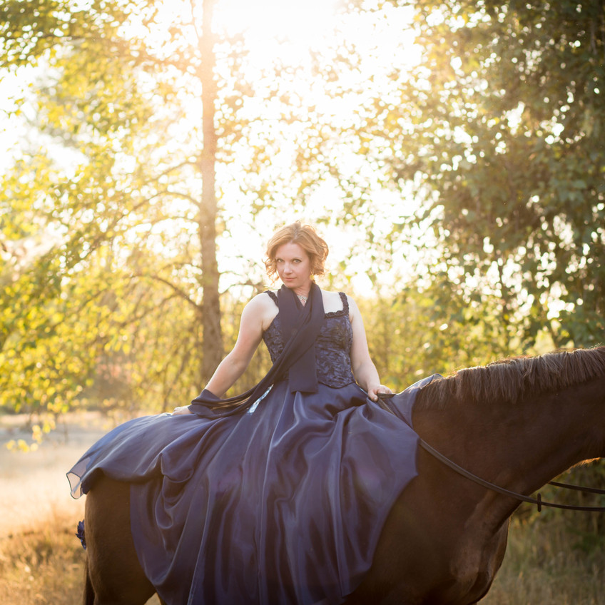 Equine portrait photography session in Olympia Washington. Photos by A Bit O' Whimsy Photography