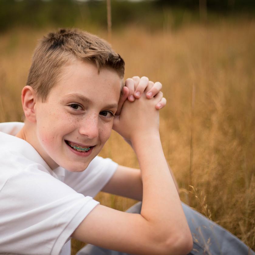 Freckled Tween Boy Photography Yelm WA
