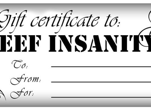 Reef Insanity Gift Cards!