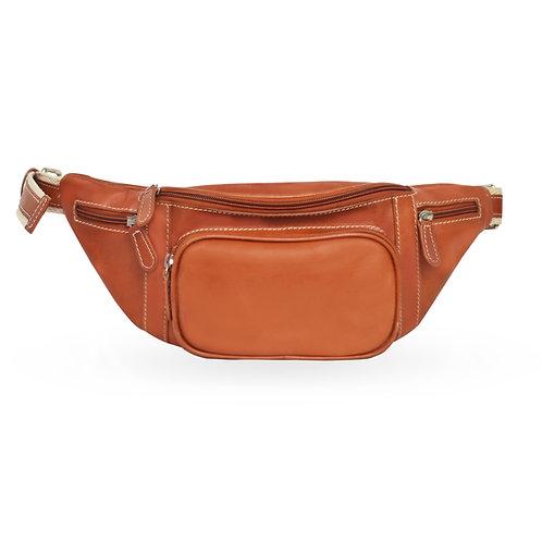 2 in 1 Tuscan Bum Bag In  Leather - Tan  (ELP1008T)