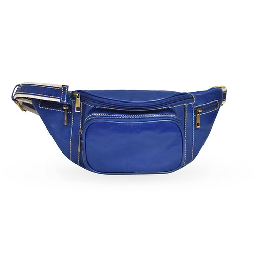 2 in 1 Tuscan Bum Bag In Leather - Royal Blue (ELP1008RB)