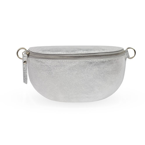 Penny Bag In Leather - Silver (ELP1007S)