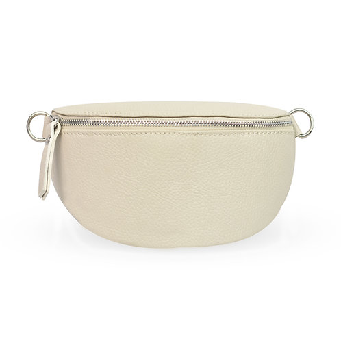 Penny Bag In Leather - Cream (ELP1007C)
