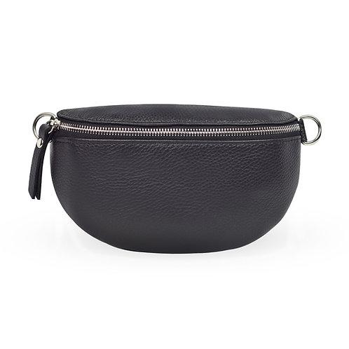 Penny Bag In Leather - Black (ELP1007B)