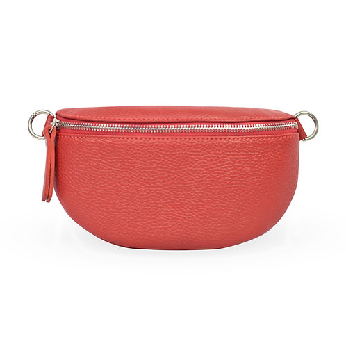Penny Bag In Leather - Red (ELP1007R)