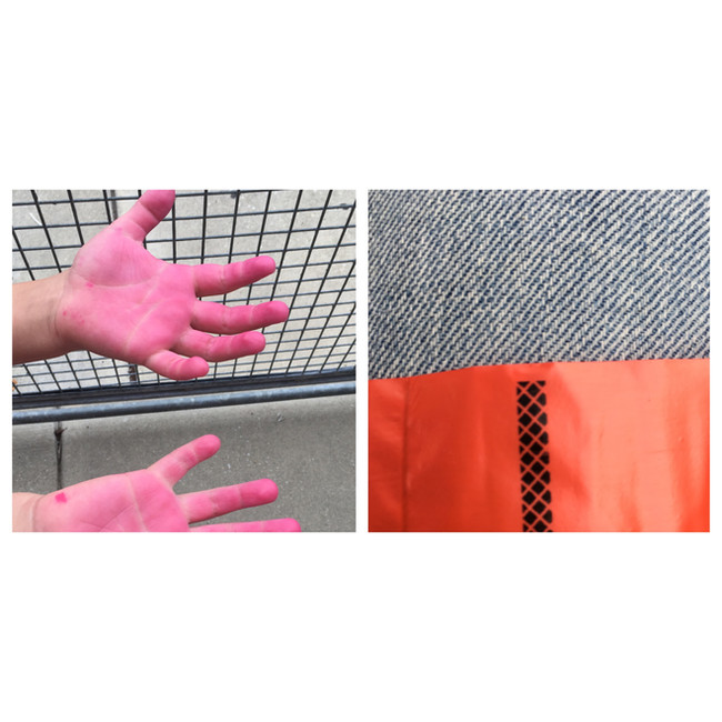 Untitled Diptych (Pink Hands)