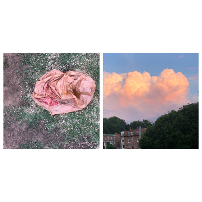 Untitled Diptych (Cloud)