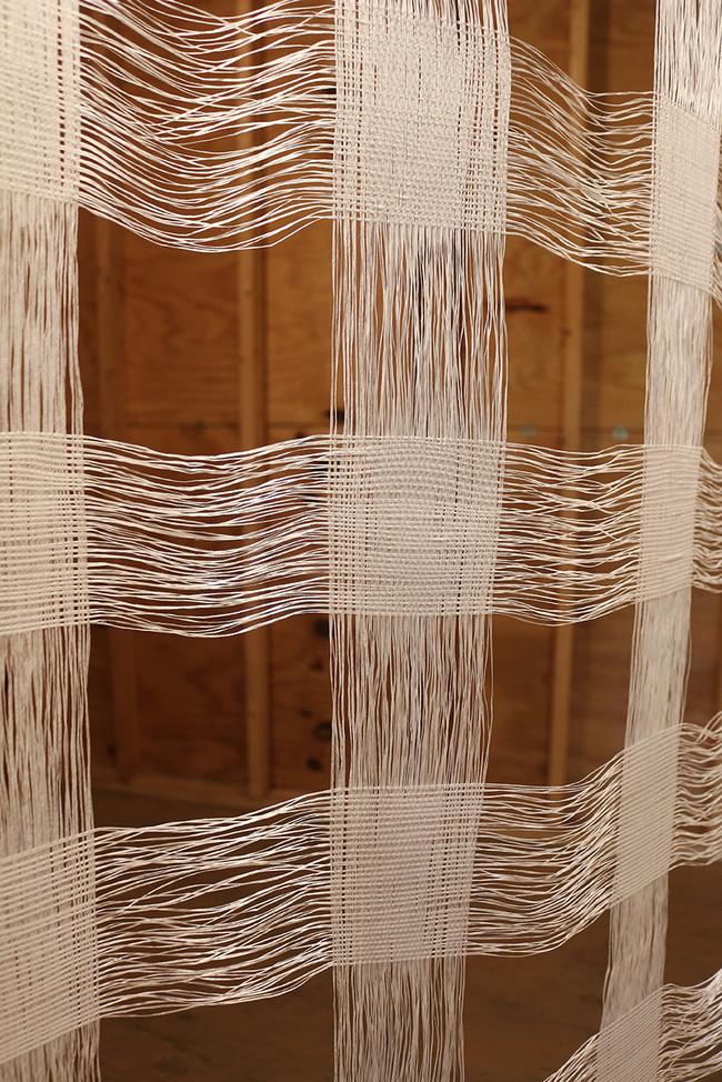 Dental Floss Weaving (Reach Mint Waxed) - Detail