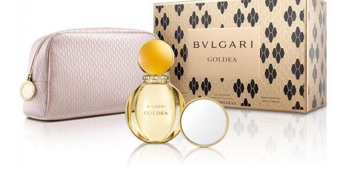 Bulgari Goldea 90ml EDP Spray / Toiletry Bag and mirror