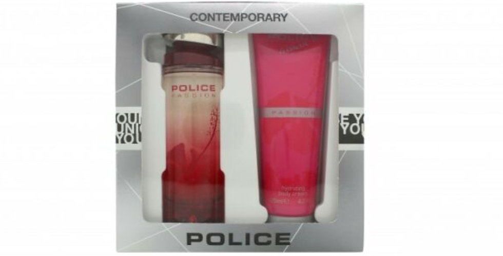 Police Passion Woman 100ml EDT Spray / 100ml Body Cream