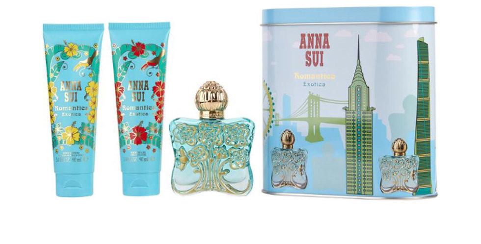 Anna Sui Romantica Exotica Gift Set 50ml EDT + 100ml Body Lotion + 100ml Shower