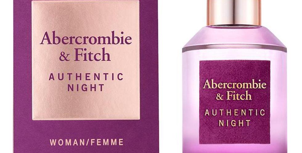 Abercrombie & Fitch Authentic Night EDP Spray
