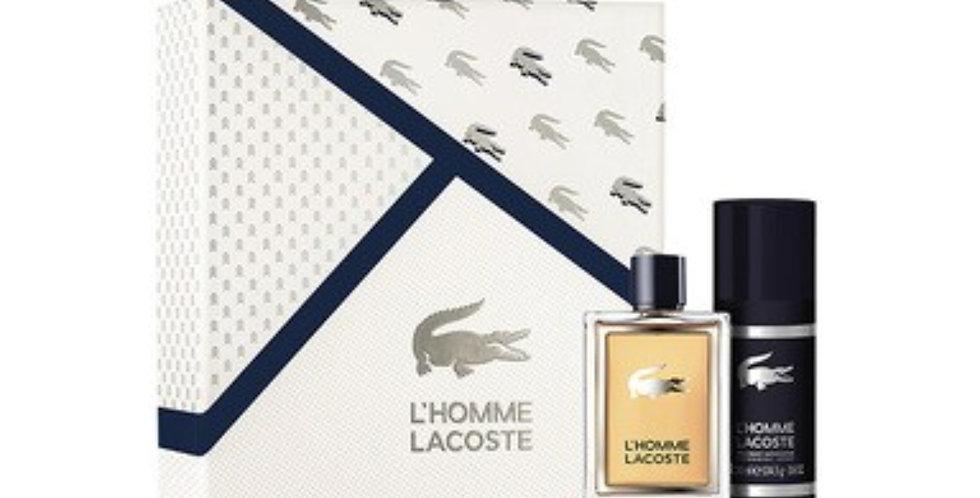 Lacoste L'homme 100ml EDT Spray / 150ml Deodorant Spray