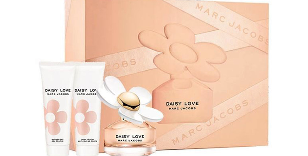 Marc Jacobs Daisy Love Gift Set 50ml EDT + 75ml Shower Gel + 75ml Body Lotion
