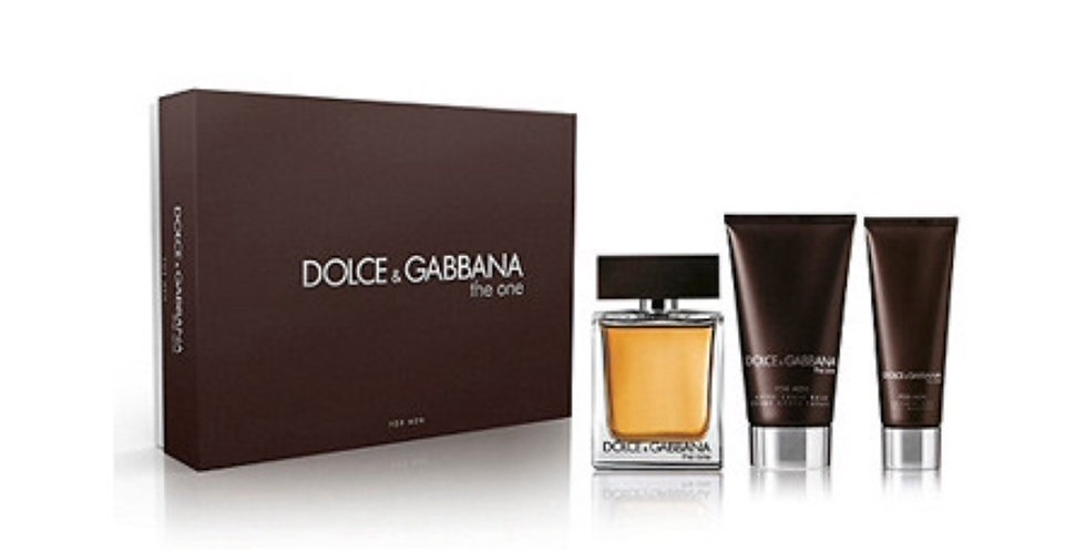 Dolce & Gabbana The One for Men 100ml EDT Spray / 50ml Aftershave Balm / 50ml Sh