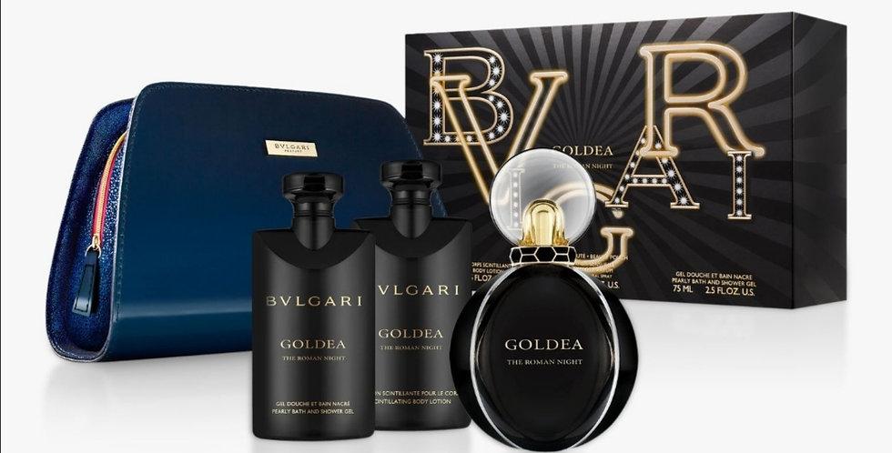 Bulgari Goldea The Roman Night 75ml EDP Spray / 75ml Body Lotion / 75ml Sh/Gel