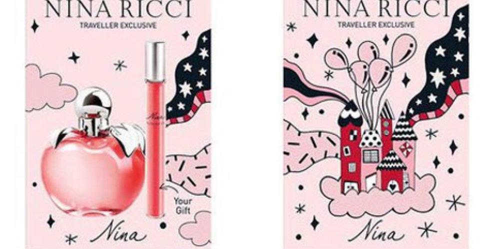 Nina Ricci Nina 80ml EDT Spray / 10ml EDT Roll On