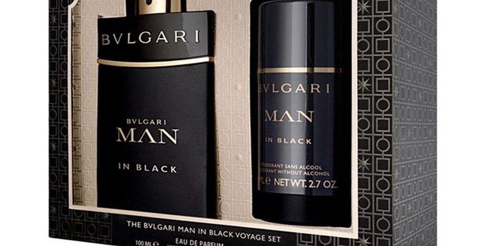 Bulgari Man In Black 100ml EDP Spray / 75ml Deodorant Stick