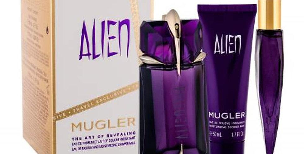 Thierry Mugler Alien Gift Set 60ml Refillable EDP + 50ml Shower Milk + 10ml EDP