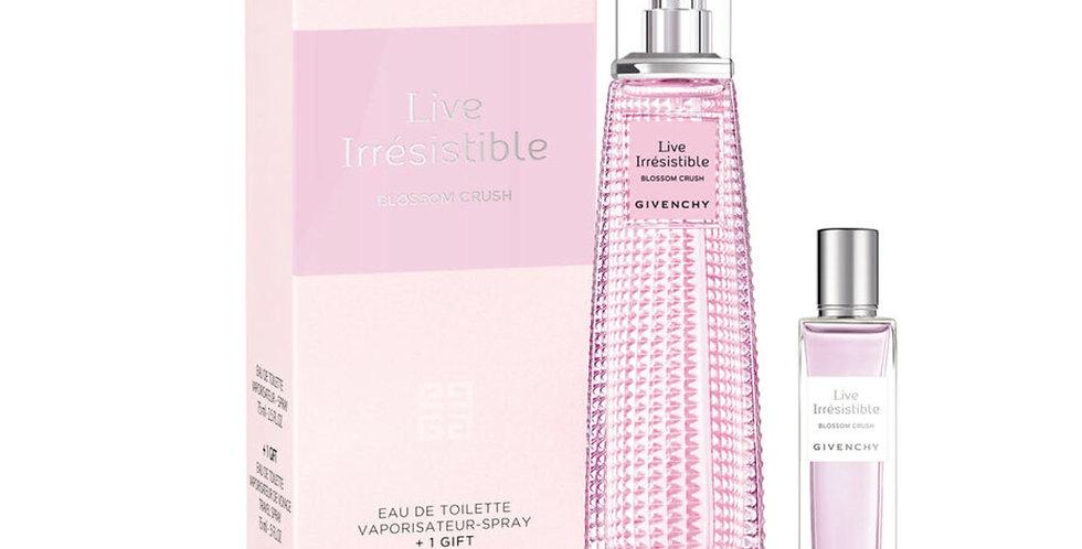 Givenchy Live Irresistible Blossom Crush 75ml EDT Spray / 15ml Travel Spray
