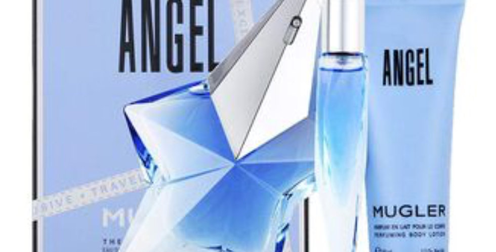 Thierry Mugler Angel 50ml Refillable EDP Spray / 10ml EDP / 50ml Body Lotio...