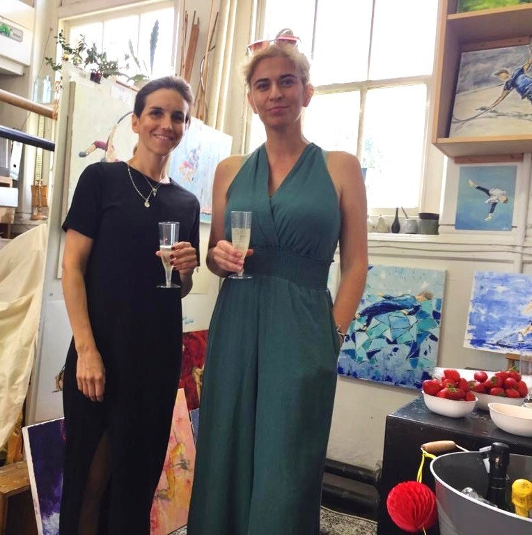 Valentina and Barbara and some paintings