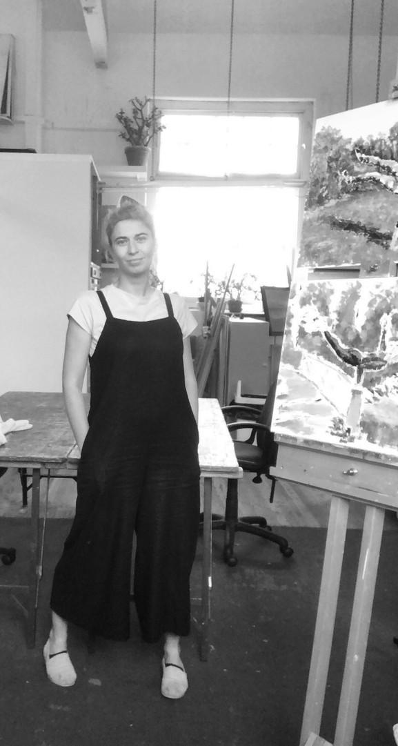 Barbara in the Studio