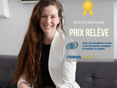 Félicitations à Laura, récipiendaire du Prix Relève de son Ordre professionnel