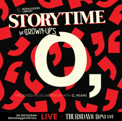 """Storytime Season 6:  Curated by O, Miami Poetry Festival  1. Poet extraordinaire 𝘾𝙖𝙢𝙥𝙗𝙚𝙡𝙡 𝙈𝙘𝙂𝙧𝙖𝙩𝙝 (@bashois2, he/him) joins the show to read a selection of his favorite road poems.⠀⠀ ⠀⠀⠀ 2. Multidisciplinary artist human 𝘾𝙝𝙞𝙣𝙬𝙚 𝙊𝙠𝙤𝙣𝙖 (@chinweokona, she/her) joins the show to read Faith Ringgold's Church Picnic Story Quilt!⠀ ⠀⠀⠀ 3. Haitian poet, essayist, and translator 𝙎𝙤𝙣𝙮 𝙏𝙤𝙣-𝘼𝙞𝙢𝙚 (@sonyquasimodo, he/him) joins the show to read his translation of Maurice Sixto's """"Gwo Moso"""".⠀⠀ ⠀⠀⠀ 4. American Book Award winner 𝙎𝙖𝙨𝙝𝙖 𝙋𝙞𝙢𝙚𝙣𝙩𝙚𝙡 (@sasharpimentel on twitter, she/her) joins the show to read a selection of poems — and perform LIVE FRUIT NINJA! ⠀⠀⠀ 5. Poet, essayist, and literary critic 𝙈𝙞𝙘𝙝𝙖𝙚𝙡 𝙆𝙡𝙚𝙗𝙚𝙧-𝘿𝙞𝙜𝙜𝙨 (@mkdordiggsy, he/him) joins the show with """"Upon Reading That Eric Dolphy Transcribed Even the Calls of Certain Species of Birds"""" by John Murillo ⠀⠀⠀ Presented in collaboration with and curated by O, Miami Poetry Festival (@omiamifestival)⠀⠀  #storytime #bookleggersstorytime #miami"""