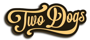 2 dogs text logo sepia2.png