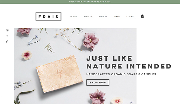 Beauty & Wellness website templates – Natural Soap and Candle Store