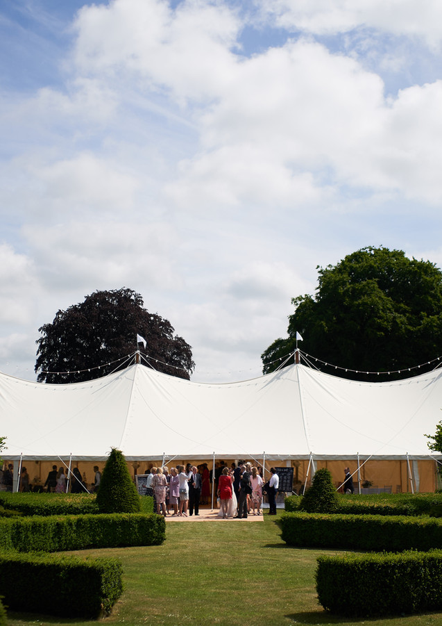 Canvas and Pole Marquee at Country Estate