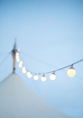 Overhead Flying Festoon Lights