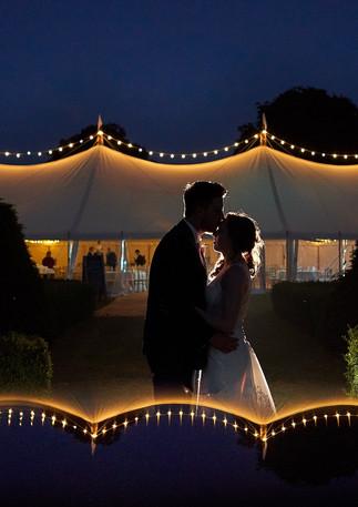 Magical Outdoor Wedding at Night