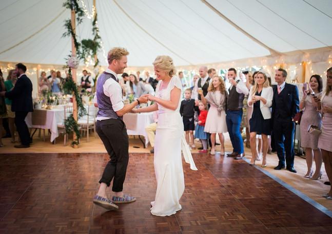 Elegant Marquee Wedding Dancing