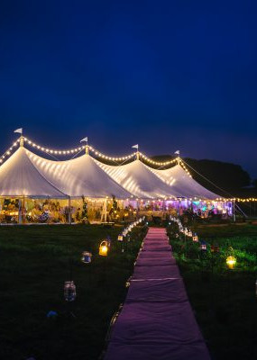 Wedding Marquee at Night