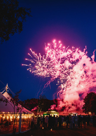 Fireworks over Marquee