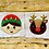 Thumbnail: Elf and Reindeer Applique Embroidery Design Set 3 SIZES