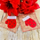 Thumbnail: ITH Winter Mitten Coaster Embroidery Design 2 FINISHES