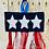 Thumbnail: Star Ribbon Banner Embroidery Design 5 SIZES