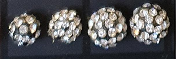 Oorbellen Black And Silver