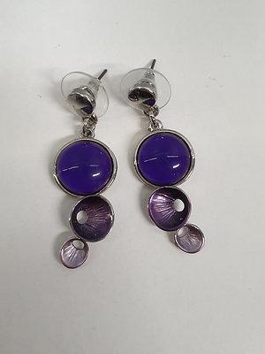 Oorbellen Triple Purple