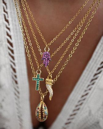Colar Mini Amuletos Prata 925